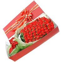 장미100송이 꽃상자