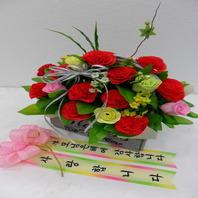 비누꽃카네이션꽃바구니 (택배상품)
