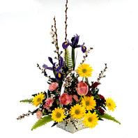 혼합 꽃바구니-1
