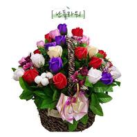 혼합비누꽃바구니(택배상품)