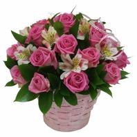 핑크빛사랑 꽃바구니